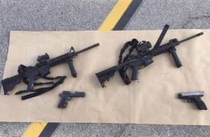 Weapons confiscated from attack in San Bernardino, California