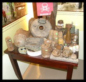 UXOs, cluser bombs, grenades